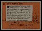 1956 Topps Davy Crockett #71 ORG  Fists Against Guns  Back Thumbnail