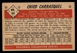 1953 Bowman #54  Chico Carrasquel  Back Thumbnail