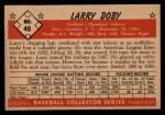 1953 Bowman #40   Larry Doby Back Thumbnail