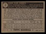 1952 Topps #59 BLK Robin Roberts  Back Thumbnail
