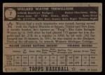1952 Topps #7 BLK  Wayne Terwilliger Back Thumbnail