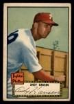 1952 Topps #74 BLK  Andy Hansen Front Thumbnail