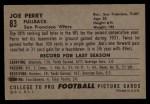 1952 Bowman Large #83   Joe Perry Back Thumbnail