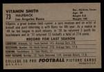 1952 Bowman Large #73   Vitamin Smith Back Thumbnail