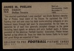 1952 Bowman Large #122   James Phelan Back Thumbnail