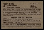 1952 Bowman Large #56  Tobin Rote  Back Thumbnail