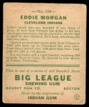 1933 Goudey #116   Eddie Morgan Back Thumbnail
