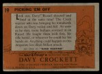 1956 Topps Davy Crockett #19 ORG  Picking 'Em Off  Back Thumbnail