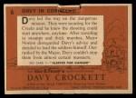 1956 Topps Davy Crockett #6 ORG  Davy In Command  Back Thumbnail