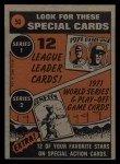1972 Topps #50  In Action  -  Willie Mays Back Thumbnail