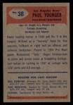 1955 Bowman #38  Paul Younger  Back Thumbnail