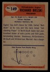 1955 Bowman #149  Dick Bielski  Back Thumbnail