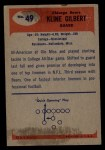 1955 Bowman #49  Kline Gilbert  Back Thumbnail