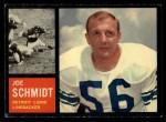 1962 Topps #59   Joe Schmidt Front Thumbnail