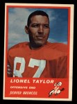 1963 Fleer #82  Lionel Taylor  Front Thumbnail