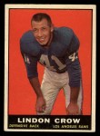 1961 Topps #55   Lindon Crow Front Thumbnail