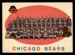 1959 Topps #104   Bears Team Checklist Front Thumbnail