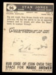 1959 Topps #96  Stan Jones  Back Thumbnail