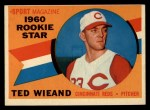 1960 Topps #146  Rookie Stars  -  Ted Wieand Front Thumbnail