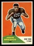 1960 Fleer #112   John Bredice Front Thumbnail