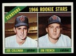 1966 Topps #333  Senators Rookies  -  Joe Coleman / Jim French Front Thumbnail