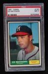 1961 Topps #120   Eddie Mathews Front Thumbnail
