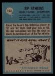 1964 Philadelphia #103  Rip Hawkins     Back Thumbnail