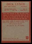 1965 Philadelphia #119   Dick Lynch  Back Thumbnail