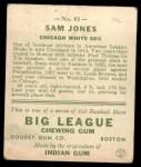 1933 Goudey #81   Sam Jones Back Thumbnail