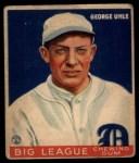 1933 Goudey #100   George Uhle Front Thumbnail