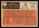 1966 Topps #443   Bill Wakefield Back Thumbnail
