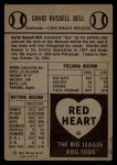 1954 Red Heart #3   Gus Bell Back Thumbnail