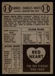 1954 Red Heart #31  Sammy White  Back Thumbnail