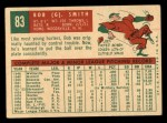 1959 Topps #83   Bobby Smith Back Thumbnail