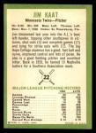 1963 Fleer #22  Jim Kaat  Back Thumbnail