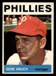 1964 Topps #157   Gene Mauch Front Thumbnail