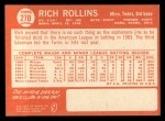 1964 Topps #270   Rich Rollins Back Thumbnail