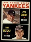 1964 Topps #281  Yankees Rookies  -  Jake Gibbs / Tom Metcalf Front Thumbnail