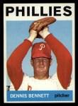 1964 Topps #396   Dennis Bennett Front Thumbnail