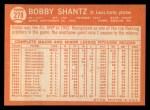 1964 Topps #278  Bobby Shantz  Back Thumbnail