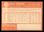 1964 Topps #319   Paul Brown Back Thumbnail