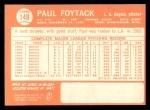1964 Topps #149   Paul Foytack Back Thumbnail