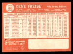 1964 Topps #266   Gene Freese Back Thumbnail