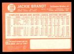 1964 Topps #399  Jackie Brandt  Back Thumbnail