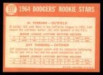 1964 Topps #337   Dodgers Rookie Stars  -  Al Ferrara / Jeff Torborg Back Thumbnail