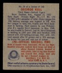 1949 Bowman #26   George Kell Back Thumbnail