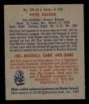 1949 Bowman #185  Pete Reiser  Back Thumbnail