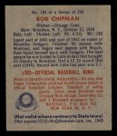 1949 Bowman #184  Bob Chipman  Back Thumbnail