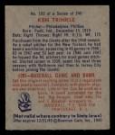 1949 Bowman #193  Ken Trinkle  Back Thumbnail