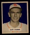 1949 Bowman #120  Cliff Fannin  Front Thumbnail